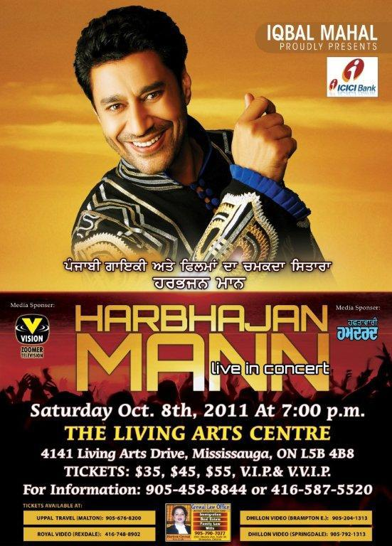 Live Concert Harbhajan Mann Tour Dates For Canada
